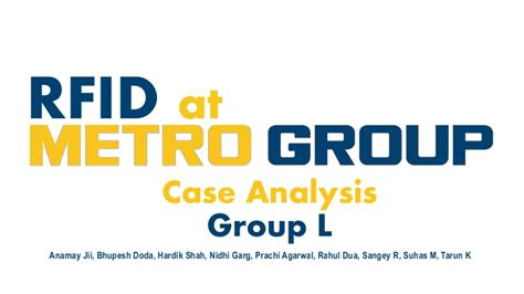 Strategic Supply Chain Management Case RFID by Group L