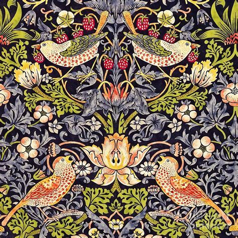 Strawberry Thief Painting by William Morris