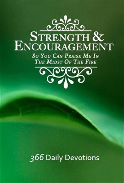 Strength and Encouragement Devotional