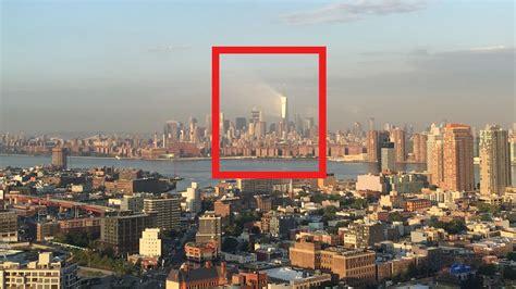 Striking ray of light beams off World Trade Center days ...