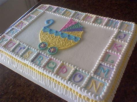 stroller baby shower sheet cake cakecentral | Cake ...