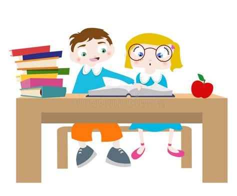 Studying Cartoon Characters Stock Photo   Image: 9788210