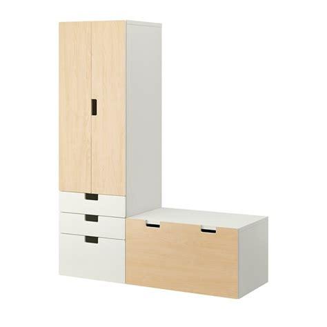 STUVA Comb almacenaje con banco   blanco/abedul   IKEA