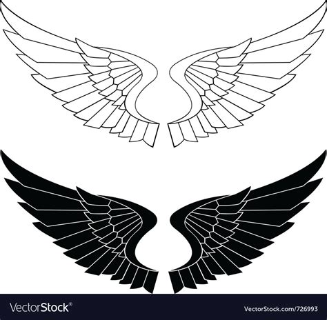 Stylized wings Royalty Free Vector Image   VectorStock