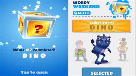 Subway Surfers: Barcelona  Wordy Weekend  Dino   Gameplay ...