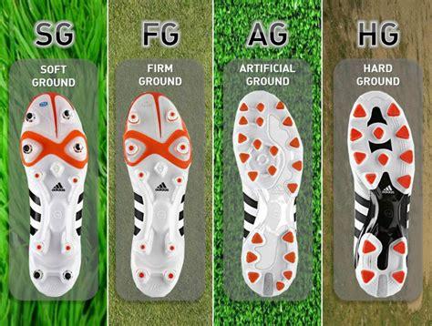 Suelas para botines de fútbol: SG, FG, AG, TF, MG y HG
