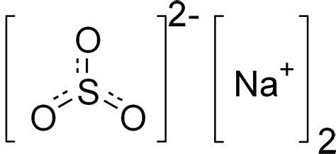 Sulfito de sodio  Na2SO3 : estructura, propiedades, usos ...