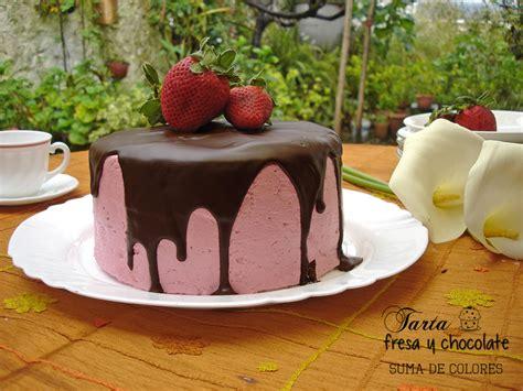 Suma de Colores: Tarta de fresa y chocolate