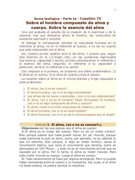 Suma teológica I q 75