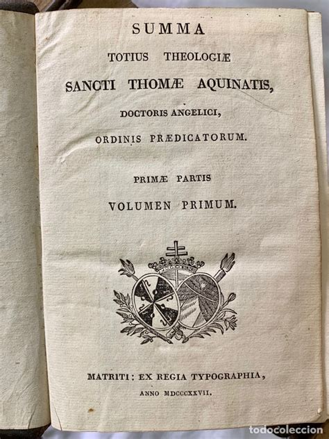 suma teologica santo tomas aquino 1827 summa to   Comprar ...