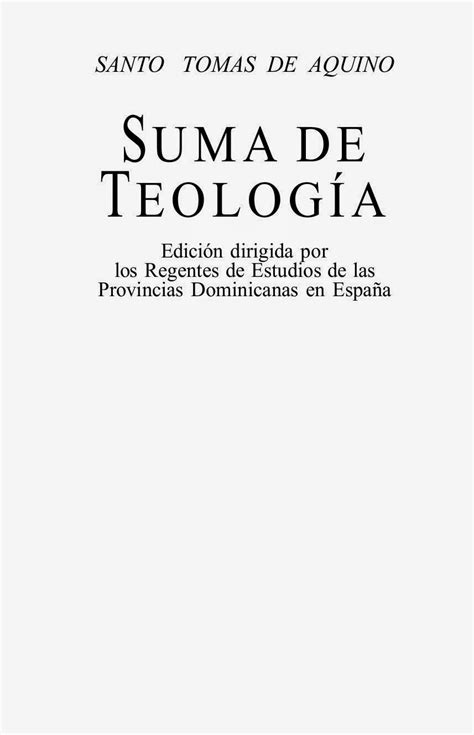 Suma Teologica  Todos los Volumenes    Santo Tomas de ...