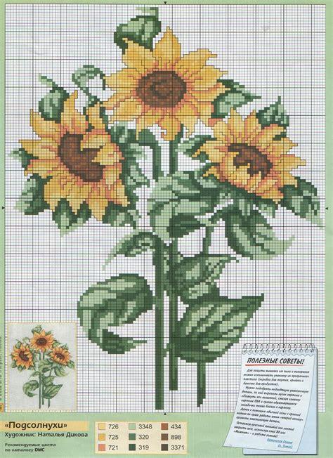 Sunflower cross stitch | Cross stitch flowers, Cross ...