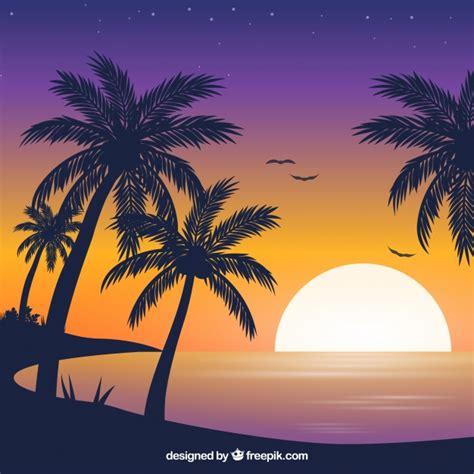 Sunset & Sunrise Vectors | Free Vector Graphics | Everypixel