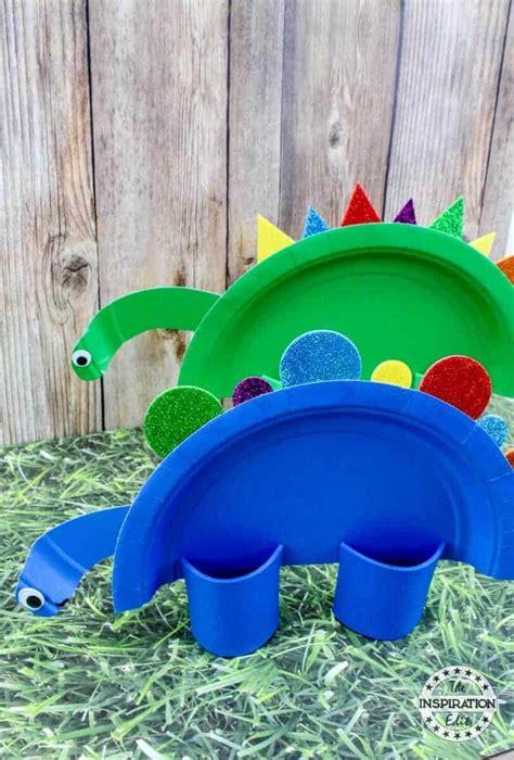 Super Cute Rainbow Dinosaur Paper Plate Craft · The ...
