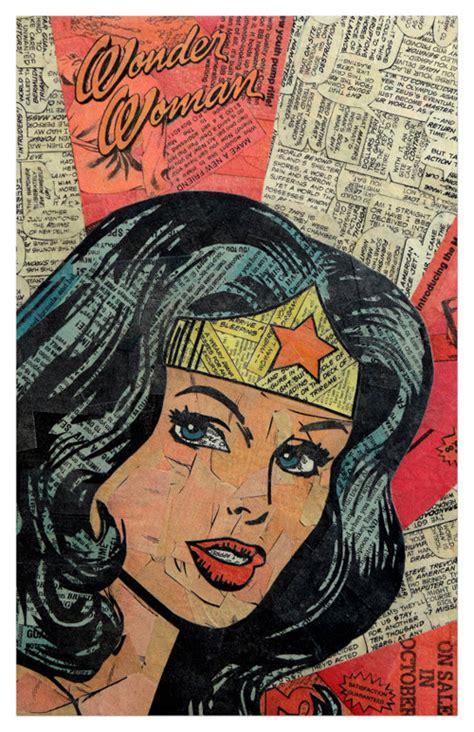 Superhero Collages Created Using Just Glue, Old Comics ...