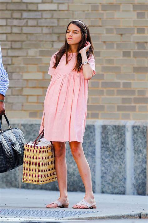 Suri Cruise Wears Jack Rogers Sandals, Pastel Dress for ...