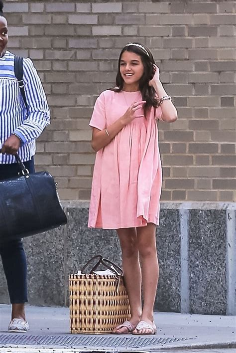 Suri Cruise Wears Peach Dress On Outing In NYC — Pic ...