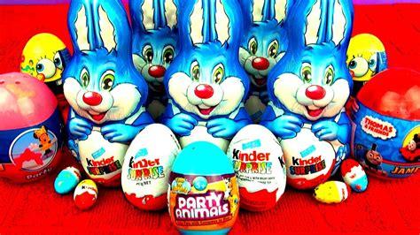 Surprise Eggs Kinder Surprise Easter Bunny Thomas ...