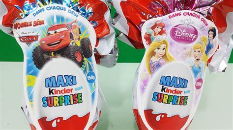 Surprise Eggs Maxi Kinder Surprise Disney Pixar Cars ...