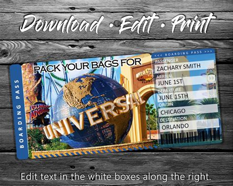 Surprise Universal Trip Ticket | Vacation Tickets Instant ...