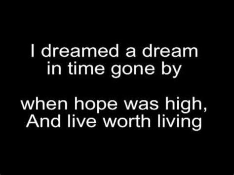 Susan boyle I Dreamed a Dream Lyrics   YouTube