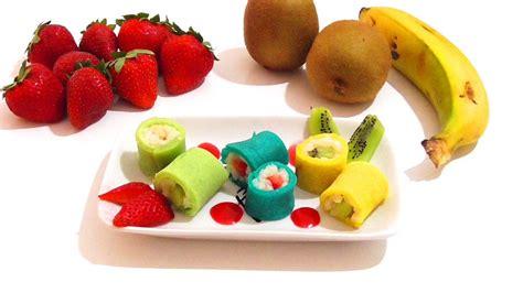 Sushi de arroz con leche, crepes y fruta. Recetas ...