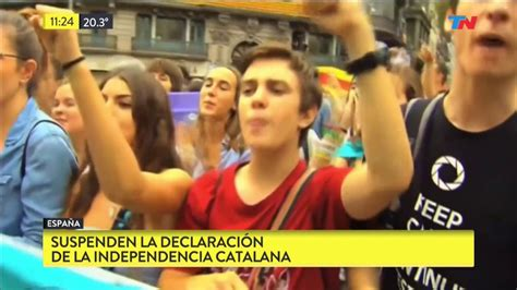 Suspenden la declaración de independencia catalana   YouTube