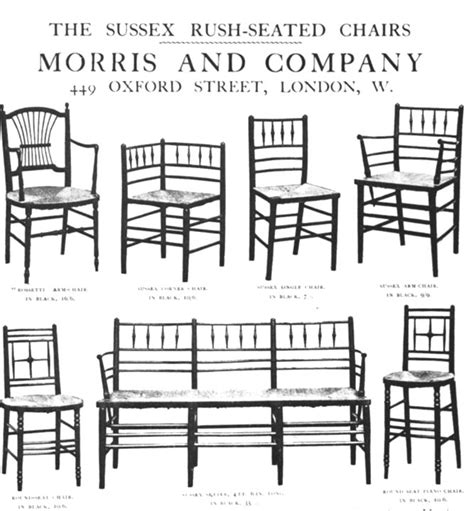 Sussex Rush Seated Chairs by William Morris and Co.