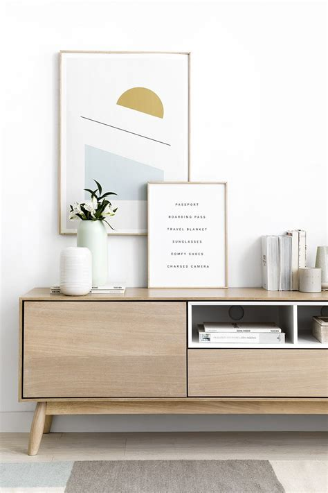 Sval mueble tv blanco y natural   Kenay Home | Muebles ...