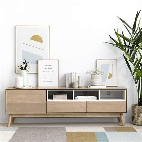 Sval mueble tv blanco y natural   Kenay Home