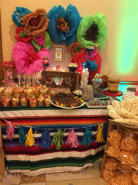 Sweet Mexican table !! | Mexican party decorations ...