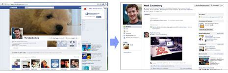 Switch back to old Facebook profile page layout