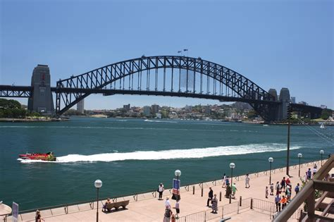 Sydney   City and Suburbs: Sydney Harbour Bridge, jet boat