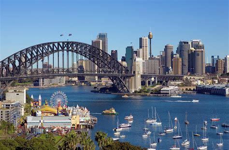 Sydney Harbour Bridge And Sydney Skyline Photograph by ...