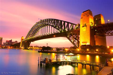 Sydney Harbour Bridge   Sydney Harbour Bridge after sunset ...