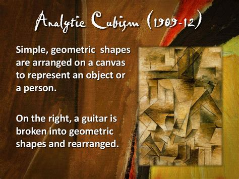 Synthetic Cubism  1912 14  Picasso introduces