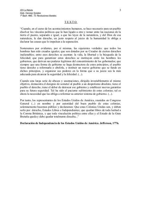 T3 Comentario histórico Declaración independencia de ...