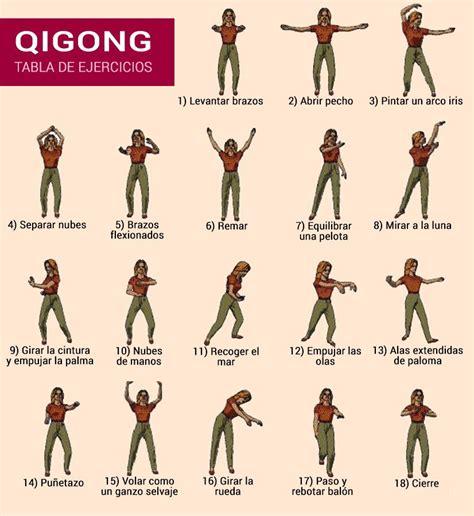 Tabla de ejercicios de Qigong   Feng shui & Chi Kung ...