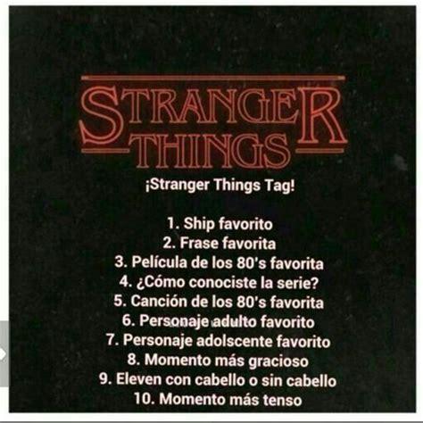 Tag de stranger things!!! ovio no va aser de sonic o por ...
