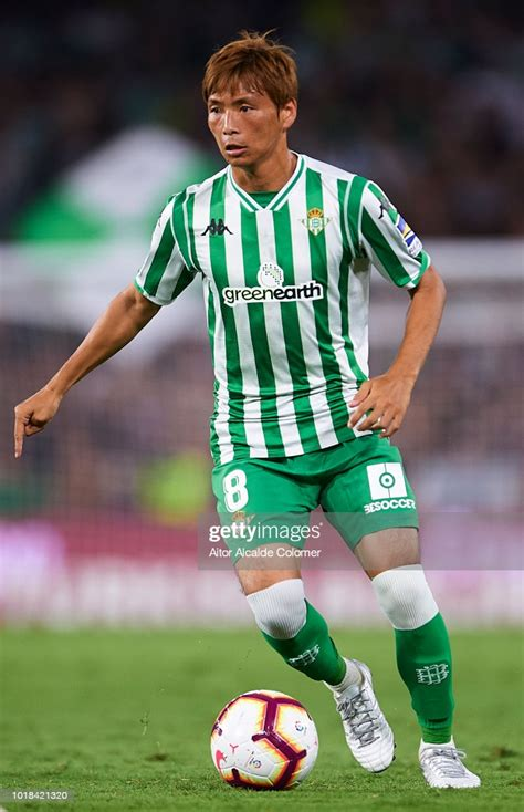 Takashi Inui of Real Betis Balompie in action during the ...