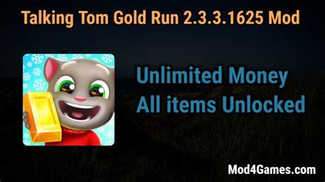 Talking Tom Gold Run 2.3.3.1625 Mod   Unlimited Money ...
