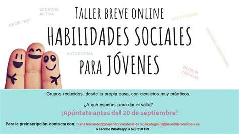 TALLER BREVE ONLINE «HABILIDADES SOCIALES PARA JÓVENES ...