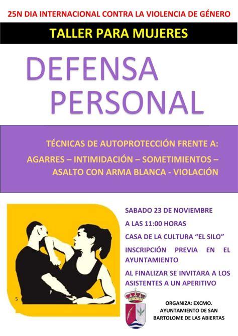Taller de defensa personal   Ayuntamiento de San Bartolomé ...
