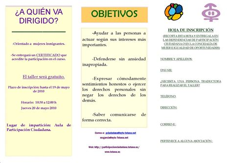 TALLER HABILIDADES SOCIALES Y ASERTIVIDAD 2010 Concejalía ...