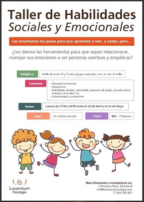 Talles de Habilidades Sociales y Emocionales