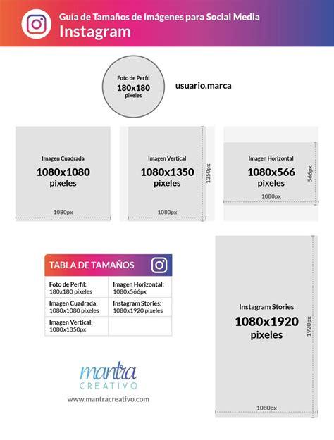 Tamaño de imágenes para redes sociales: Instagram | Redes ...