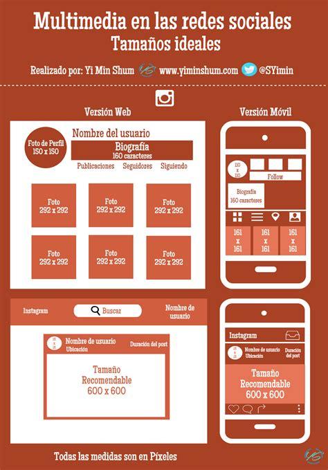 Tamaño ideal de multimedia para Instagram #infografia # ...