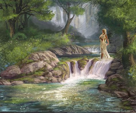 Tanagra   the Naiad Nymph of the spring, well or fountain ...