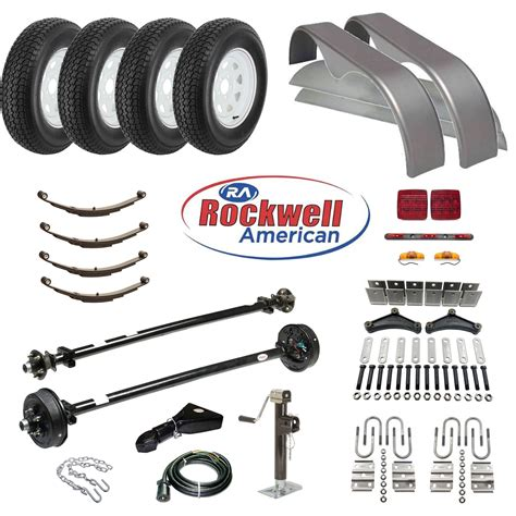 Tandem Axle Trailer Parts Kit   7,000 lb Capacity   Brakes ...