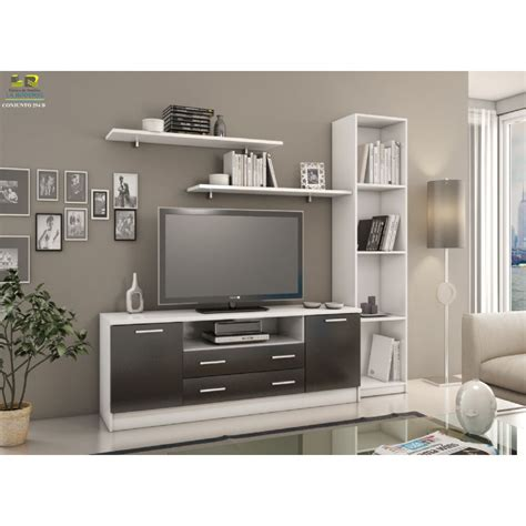 TANUK MUEBLES DE SALON NJORD CON MUEBLE TV ESTANTERIA Y ...